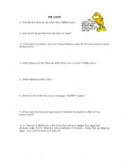 english worksheets the lorax. Black Bedroom Furniture Sets. Home Design Ideas