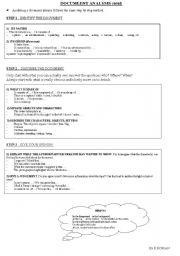 English Worksheets: Methodology : Document analysis (oral)