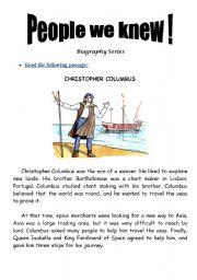 People We Knew (Christopher Columbus)