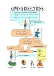 English Worksheet: Giving directions