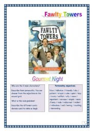 Fawlty Towers -Gourmet Night -BRITISH HUMOUR - KEY included.