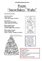 English Worksheet: poem and other activities