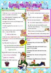 English Worksheets: Expressing probability & permission