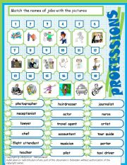 English Worksheets: Jobs & professions