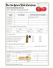 english worksheet how the grinch stole christmas part 26 - How The Grinch Stole Christmas Free Movie Online