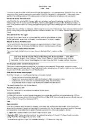world war 2 reading comprehension worksheets pdf