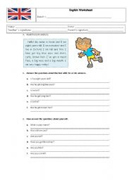 English Worksheets: English worksheet