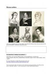 English Worksheets: Women writers