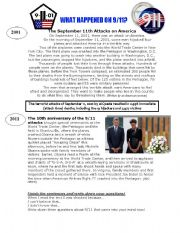 English Worksheets: The 10th anniversary of the 9/11 attacks