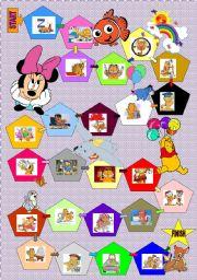 English worksheet: Garfield boardgame actions+dice (18 November 2011)