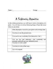 English Worksheets: A Frightening Apparition