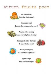 Autumn fruits poem