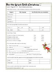 english worksheet how the grinch stole christmas part 46 - How The Grinch Stole Christmas Games
