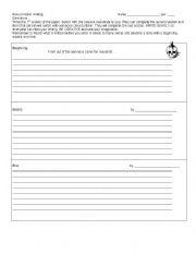 English Worksheets: Round Robin Writing Worksheet