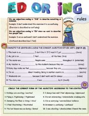 English Worksheets: ADJECTIVE ED OR ING