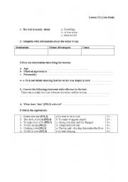English Worksheet: A lesson plan for