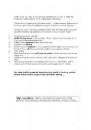 English Worksheets: Functional Writing Formats
