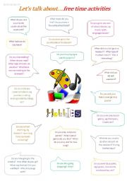English Worksheets: Let�s Talk About...Free Time Activities