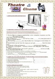 English Worksheet: Theatre and cinema