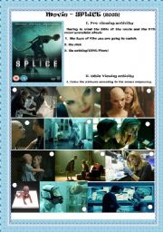 English Worksheets: MOVIE- SPLICE(2009)