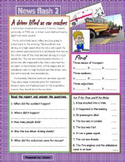 English Worksheets: news report 2