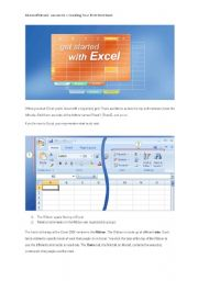 English Worksheets: IT Microsoft Excel:  Lesson Creating Your First Workbook