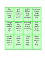 English Worksheets: Association cards