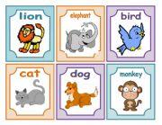 English Worksheet: Animals Flash-cards