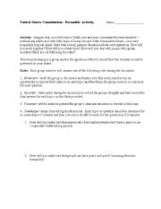 english worksheets preamble activity. Black Bedroom Furniture Sets. Home Design Ideas