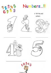 math worksheet : english worksheet numbers 1 5 colouring : Numbers 1 5 Worksheets For Kindergarten