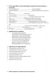 English worksheet: COMPARATIVE SUPERLATIVE