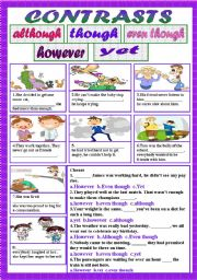 English Worksheets: Contrasts1