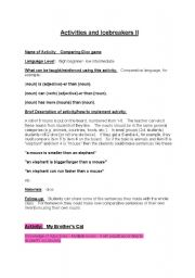 English Worksheet: Activities and Icebreakers  part 2