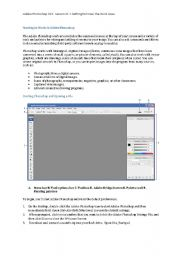 English Worksheets: IT Adobe Photoshop:  Lesson Getting to Know the Work Area