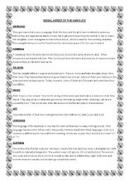 English Worksheets: Social aspects of the San�s life