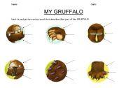 English Worksheets: Gruffalo description sheet