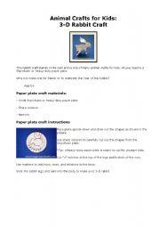 English Worksheets: Animal Craft
