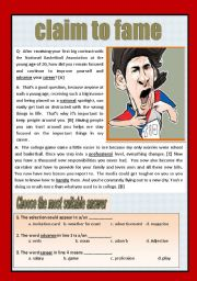 English Worksheets: Reading comprehension ( interview)