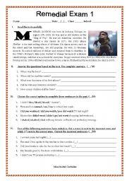 English Worksheets: michael jackson�s bio