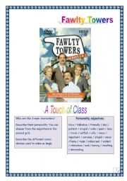 FAWLTY TOWERS - A Touch of Class - Tasks & comprehensive KEY.