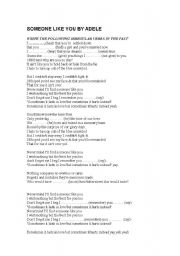 Someone Like You By Adele Esl Worksheet By Loalco