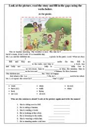 English Worksheet: At the picnic