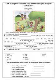 English Worksheet: At the picnic