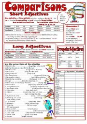 English Worksheet: Comparisons I