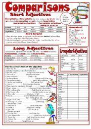 English Worksheet: Comparisons I