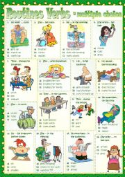 English Worksheets: Routines Verbs