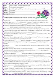English Worksheet: Cloze passage: The gifted children pushed to the edge (keys included)