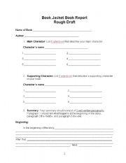 book report organizer worksheets