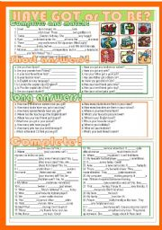English Worksheet: Have Got or To Be?