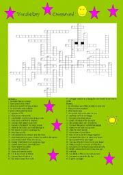 English Worksheets: VOCABULARY CROSSWORD